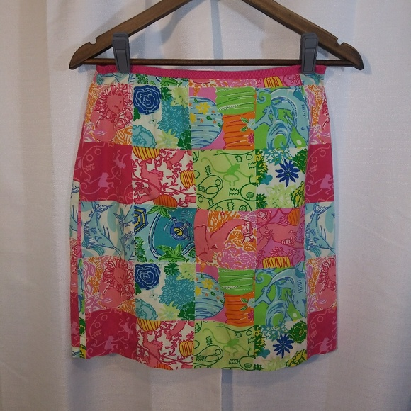 Lilly Pulitzer Dresses & Skirts - Lily Pulitzer patchwork skirt. Sz 2